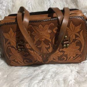 Handbags - Genuine leather embossed w western theme. NWOT